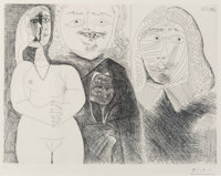 Pablo Picasso (1881-1973) Pl. 132, from Séries 156, 1971 Etching on wove paper, printed 1
