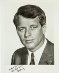 Photography:Signed, Robert Kennedy Photograph Signed...