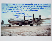 Dutch Van Kirk Signed Statement on Photograph of the Enola Gay