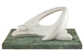 Sculpture, Ferruccio Polacco (Argentinian, 1917-2012). Reclining Figure, circa 1960. Marble. 11-1/2 x 24-1/2 x 15-1/2 inches (29.2 ... (Total: 2 Items)