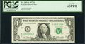 Super Radar 43333334 Fr. 1909-K $1 1977 Federal Reserve Note. PCGS Gem New 65PPQ