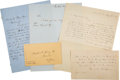 Autographs:Authors, William Cullen Bryant Two Autograph Letters Signed Together with a Horace Greeley Autograph Letter Signed and a Henry Wadswort...