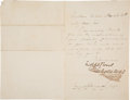 Autographs:Authors, Charles Dickens Letter Signed....