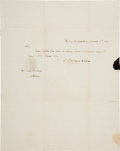 Autographs:Authors, James Fenimore Cooper Autograph Letter Signed....
