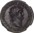 Ancients:Roman Imperial, Ancients: Nero (AD 54-68). AE dupondius (29mm, 15.87 gm, 6h). NGC Choice AU★ 5/5 - 4/5, Fine Style. ...