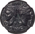 Ancients:Roman Provincial , Ancients: Augustus (27 BC-AD 14), with Marcus Agrippa. AE dupondius (24mm, 12.83 gm, 9h). NGC MS 4/5 - 3/5, adjusted flan....