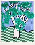 Prints & Multiples, Roy Lichtenstein (1923-1997). Rain Forest, 1992. Screenprint in colors on Fabriano paper. 25-3/4 x 21-1/2 inches (65.4 x...