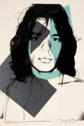 Prints & Multiples, Andy Warhol (1928-1987). Mick Jagger, 1975. Screenprint in colors on Arches Aquarelle paper. 43-5/8 x 28-7/8 inches (110...