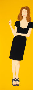Prints & Multiples, Alex Katz (b. 1927). Cicely, from Black Dress series, 2015. Screenprint in colors on Saunders Waterford Hot Press Wh...