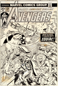 Jim Starlin and Frank Giacoia Avengers #120 Cover Thor and Iron Man Original Art (Marvel, 1974)