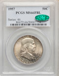 1957 50C MS66 Full Bell Lines PCGS. CAC. PCGS Population: (513/34). NGC Census: (94/9). CDN: $160 Whsle. Bid for NGC/PCG...