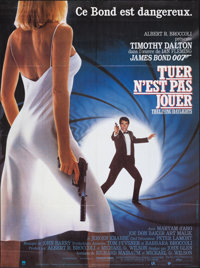 "The Living Daylights (United Artists, 1987). Folded, Very Fine+. French Grande (45.5"" X 61.5""). James Bond..."