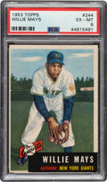Baseball Cards:Singles (1950-1959), 1953 Topps Willie Mays #244 PSA EX-MT 6....