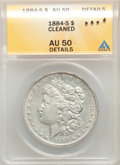 Morgan Dollars, 1884-S $1 -- Cleaned -- ANACS. AU50 Details. Mintage 3,200,000....
