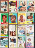 Autographs:Baseballs, 1955-75 Bowman & Topps Hank Aaron Collection (16)....