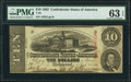 Confederate Notes:1863 Issues, T59 $10 1863 PF-19 Cr. 442 PMG Choice Uncirculated 63 EPQ.. ...