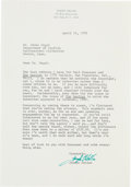 Autographs:Authors, Joseph Heller Typed Letter Signed...
