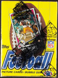 Football Cards:Boxes & Cases, 1984 Topps Football Wax Box With 36 Unopened Packs - Marino & Elway Rookie Year!...