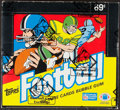 Football Cards:Boxes & Cases, 1987 Topps Football Cello Box with 24 Unopened Packs. ...