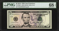 Small Size:Federal Reserve Notes, Serial 25555551 Fr. 1996-L $5 2013 Federal Reserve Note. PMG Superb Gem Unc 68 EPQ.. ...