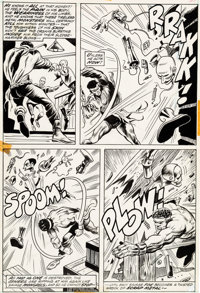 George Tuska and Billy Graham Hero for Hire #8 Story Page 19 Original Art (Marvel, 1973)