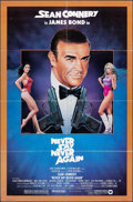 "Movie Posters:James Bond, Never Say Never Again (Warner Bros., 1983). Folded, Fine/Very Fine. One Sheet (27"" X 41""). Rudy Obrero Artwork. James..."