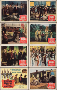 "Military Academy with That Tenth Avenue Gang (Columbia, 1950). Overall: Very Fine-. Lobby Card Set of 8 (11"" X 14&q..."