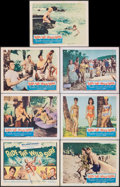 """Movie Posters:Sports, Ride the Wild Surf (Columbia, 1964). Fine/Very Fine. Title Lobby Card & Lobby Cards (6) (11"""" X 14""""). Sports.. ... (Total: 7 Items)"""