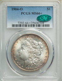 1904-O $1 MS66+ PCGS. CAC. PCGS Population: (1148/68 and 164/3+). NGC Census: (1660/112 and 62/3+). CDN: $250 Whsle. Bid...