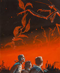 Works on Paper, Edmund (Emsh) Emshwiller (American, 1925-1990). Giants from Eternity preliminary book cover, 1959. Gouache on board. 6 x...