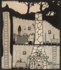 Works on Paper, Lee Brown Coye (American, 1907-1981). The Bachelor, 1929. Ink on board. 6 x 5-1/4 inches (15.2 x 13.3 cm) (sight). Signe...