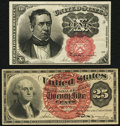 Fractional Currency:Fifth Issue, Fr. 1266 10¢ Fifth Issue Choice New;. Fr. 1302 25¢ Fourth Issue New.. ... (Total: 2 notes)