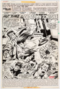 Original Comic Art:Splash Pages, George Tuska and Bob Smith Power Man #47 Splash Page 1 Original Art (Marvel, Year)....