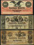 Obsoletes By State:Louisiana, New Orleans, LA- New Orleans Canal and Banking Company $10; $50; $100 18__ Remainders Crisp Uncirculated.. ... (Total: 3 notes)