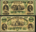 Obsoletes By State:Louisiana, New Orleans, LA- Citizens' Bank of Louisiana $5 18__ Remainder Crisp Uncirculated;. Shreveport, LA- Citizens' Bank of ... (Total: 2 notes)