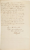 Autographs:Non-American, [Duke of Wellington]. Arthur Wellesley Letter Signed with Related Letter.... (Total: 2 )