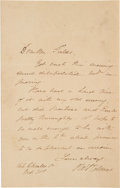 Autographs:Authors, Oliver Wendell Holmes Autograph Letter Signed...