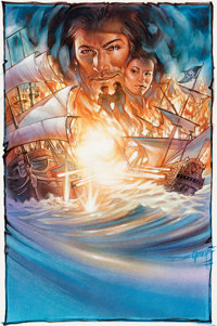 Steven Chorney Sid Meier's Pirates Video Game Box Cover Concept Painting Original Art (MicroProse, 1987)