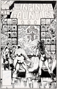 George Perez The Infinity Gauntlet #2 Cover Original Art (Marvel, 1991)