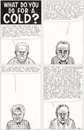"Original Comic Art:Complete Story, Daniel Clowes Eightball #4 Complete 1-Page Story ""What Do You Do for a Cold?"" Original Art (Fantagraphics Books, 1..."