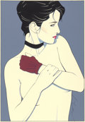 Works on Paper, Patrick Nagel (American, 1945-1984). Glove, Commemorative #6. Acrylic on board. 13-1/4 x 9-1/4 inches (33.7 x 23.5 cm) (...