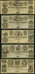 Obsoletes By State:Ohio, Franklin, OH- Franklin Silk Company $2; $2; $3; $5; $10 18__ Remainders About Uncirculated or Better.. ... (Total: 5 notes)