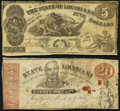 Obsoletes By State:Louisiana, Baton Rouge, LA- State of Louisiana $5 Oct. 10, 1862; $20 Mar. 10, 1863 Fine or Better.. ... (Total: 2 notes)