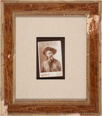 "William F. ""Buffalo Bill"" Cody Cabinet Card Inscribed and Signed"