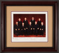 Autographs:Statesmen, Burger Supreme Court Oversized Photograph Signed by All Nine Justices....