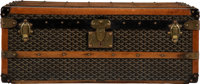 "Goyard Black Goyardine Coated Canvas Steamer Trunk Condition: 3 33.5"" Width x 13"" Depth x 20.5"" D"