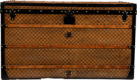 "Louis Vuitton Damier Ebene Coated Canvas Steamer Trunk Condition: 4 47.5"" Width x 27.5"" Height x"