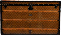"Louis Vuitton Damier Ebene Coated Canvas Steamer Trunk Condition: 4 47.5"" Width x 25.5"" Height x"