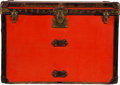 "Luxury Accessories:Travel/Trunks, Louis Vuitton Orange Coated Canvas Steamer Trunk. Condition: 4. 32"" Width x 23"" Height x 20.5"" Depth. ..."