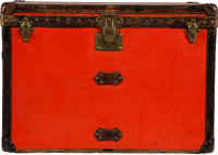 "Louis Vuitton Orange Coated Canvas Steamer Trunk Condition: 4 32"" Width x 23"" Height x 20.5"" Dept"
